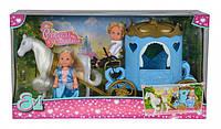 """Кукольный набор Эви и Тимми """"Карета принцессы"""" с лошадью Simba Toys 5738516"""