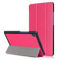 Чехол подставка Tri-fold Leather Smart для Lenovo Tab3 8 Plus малиновый