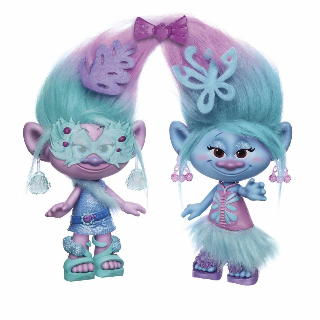 "TROLLS Satin & Chenille's - Модні Близнюки ( ""Тролли"" - Модные близнецы, 23 см ) B6563"