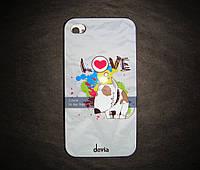 Пластиковая накладка  iPhone 4/4s Devia Hard case