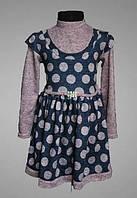 Детское платье, теплое, под горло