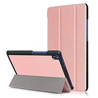 Чехол подставка Tri-fold Leather Smart для Lenovo Tab3 8 Plus розовый