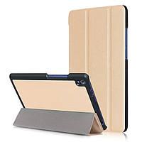 Чехол подставка Tri-fold Leather Smart для Lenovo Tab3 8 Plus золотой