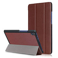 Чехол подставка Tri-fold Leather Smart для Lenovo Tab3 8 Plus коричневый