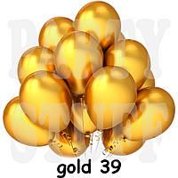 Воздушные шарики Gemar GM90 металлик Золото 10' (26 см) 100 шт