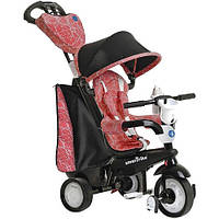Велосипед  3-х колесный с ручкой и корзиной  Smart Trike 4w1 Seria Chic черно-красный