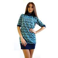 Платье - туника Бирюзовый Ажур