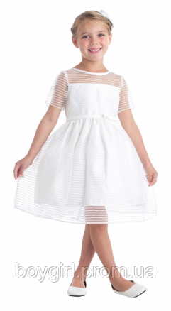 66eab40a51b5 Нарядное полосатое платье из органзы 3-15 лет (два цвета)  продажа ...