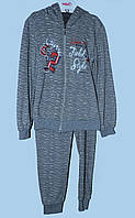 Теплый костюм для девочки 3-8 лет Field Style серый