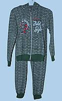Теплый костюм для девочки 3-8 лет Field Style зеленый
