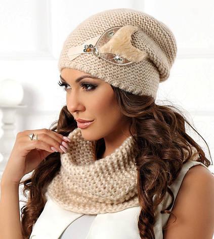 Модная и стильная шапочка с декором Betina Польша, фото 2