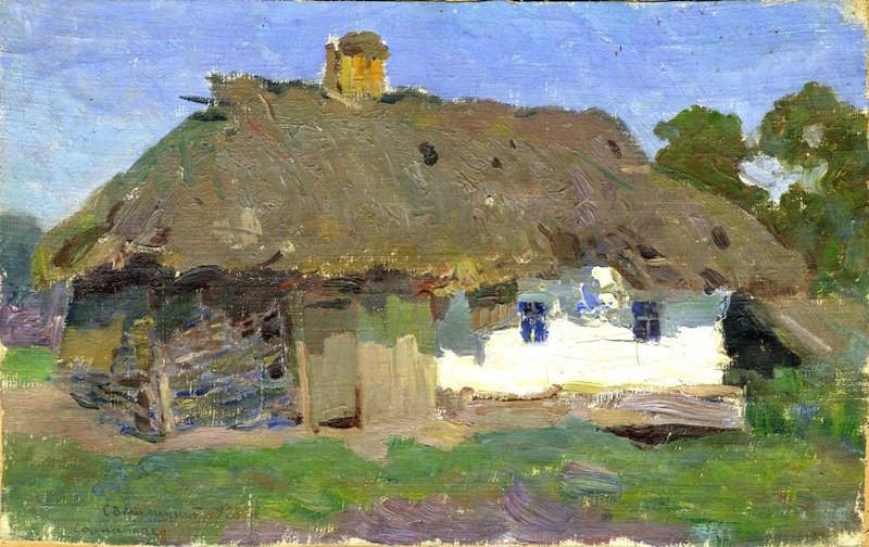 Картина Солом*яна хата Г.П.Светлицкий  1928 год