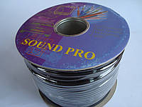 Микрофонный, инструментальный кабель Sound Pro две жилы в экране (6мм)