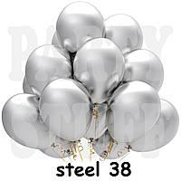 Воздушные шарики Gemar GM90 металлик Стальной (26 см) 100 шт