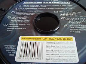 Микрофонный кабель RockCable RCL 10300 D6 BLK - диаметр 6мм - 1 жила в экране , фото 3