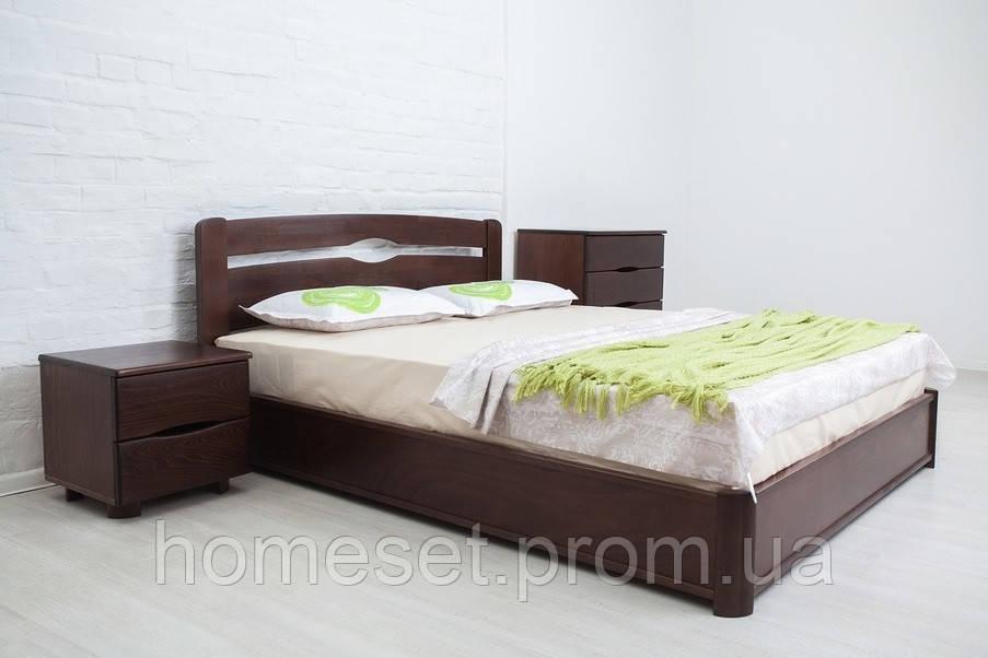 Деревянная кровать с подъемным механизмом Нова