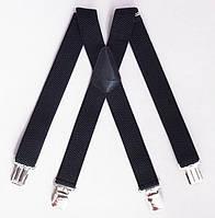 Широкие мужские подтяжки Paolo Udini черные, фото 1