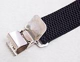 Широкие мужские подтяжки Paolo Udini черные, фото 4
