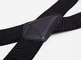 Широкие мужские подтяжки Paolo Udini черные, фото 2