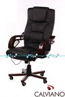 Кресло с массажем Prezydent черное, фото 1