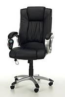 Кресло с массажем MANLINE+ПОДОГРЕВ черное, фото 1