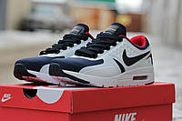 Мужские кроссовки Nike Zero, пресс кожа, синие с белым / зимние кроссовки мужские Найк зеро, модные