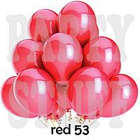 Шарики надувные Gemar GM90 Красный металлик 10' (26 см) 100 шт