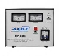 Стабилизатор напряжения Rucelf SDF-3000 (3000 Вт) электромеханический (для квартиры)