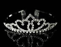 Диадема корона с гребешками, высота 3,5 см
