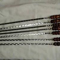 Шампур для гриля ручной работы (нержавеющая сталь - 3 мм.)