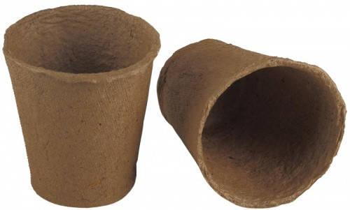 Торфяной горшок. Размер 8*8 см, круглый. Производство: Украина.