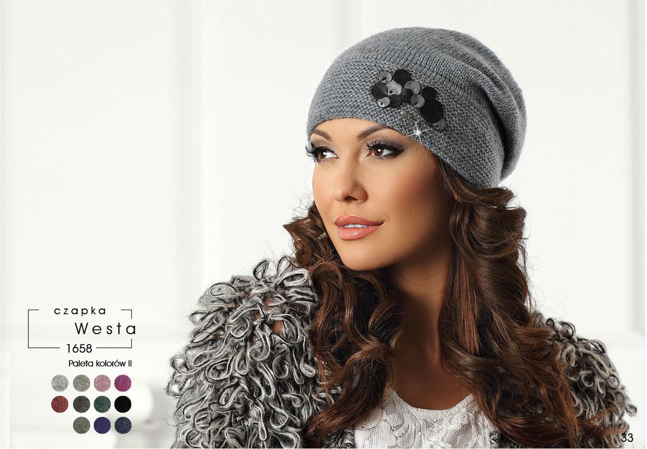 Модная и стильная шапочка с декором коллекции Betina Польша
