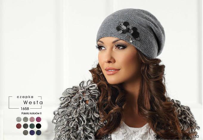 Модная и стильная шапочка с декором коллекции Betina Польша, фото 2