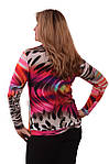 "Блуза теплая  с хомутом ""РАДУГА"" 48-56 размеры 664-1 теплая, фото 2"