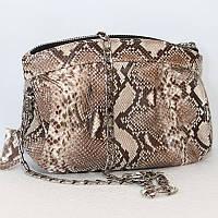 Женская сумка из кожи питона (PTSB 102 Natural)