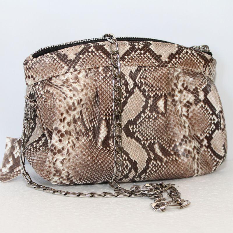 9e4a667a9f91 Женская сумка из кожи питона (PTSB 102 Natural) - Интернет-магазин VipSymki  в