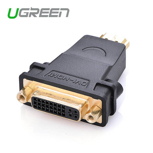 Ugreen Переходник DVI - HDMI 25F / 19M double link