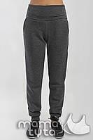 Теплые спортивные штаны для беременных Виктори Темно-серые