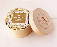 Органическое оливкое мыло Nablus Pure в подарочном тубусе