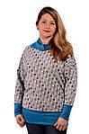 Джемпер жіночий двухнитка сірий бл 665 L-XXL, фото 2