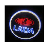 Дверной логотип LED LOGO 245 Lada , Светодиодная подсветка на двери с логотипом, Лазерная проекция