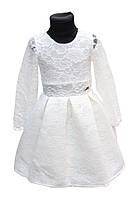 Детское Платье Адель белый  р.116-128