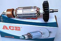 Якорь (ротор) для УШМ (Болгарки) Титан 8-125, Темп 125 - 900 (157*32 посадка 7 мм/шлиц)