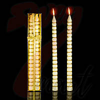 Свеча Сосулька Золото, 40 см, диаметр - 3 см