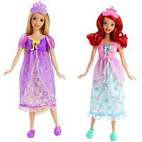 Игровой детский набор Принцессы Диснея Пижамная вечеринка Рапунцель и Ариэль Disney Princess, высота 28 см