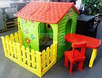 Mochtoys будиночок з тарасою+столик і крісла
