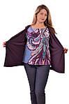 Блуза двойка баклажан ботал , бл 052-1, размер 50-54, фото 2