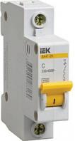 Выключатель автоматический 1П, 10А, характеристика С, ИЭК ВА47-29, MVA20-1-010-C