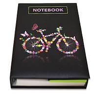 Блокнот зі стікерами Post-it, твердій обкладинці «Велосипед» в комплекті з чохлом, фото 1