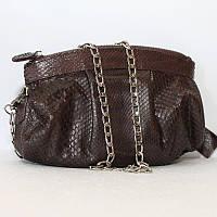 Женская сумка из кожи питона (PTSB 102 Brown)